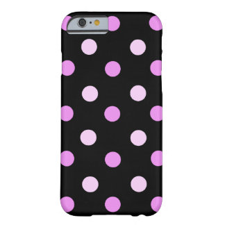 Caisse rose et noire de l'iPhone 6 de polka