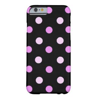 Caisse rose et noire de l'iPhone 6 de polka Coque iPhone 6 Barely There
