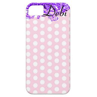 caisse rose et pourpre de l'iphone 5 de point de p coque iPhone 5