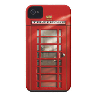 Caisse rouge britannique classique de l'iPhone 4 d Étui iPhone 4