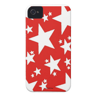 Caisse rouge de Coque-Compagnon d'étoile Coque Case-Mate iPhone 4