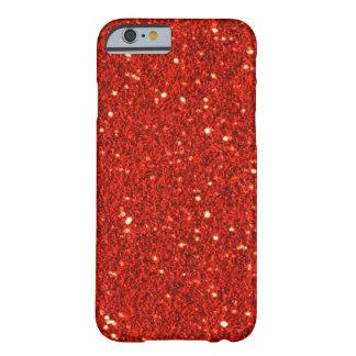Caisse rouge de l'iPhone 6 de scintillement de Fau