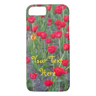 Caisse rouge de téléphone de tulipe -- coque iPhone 7