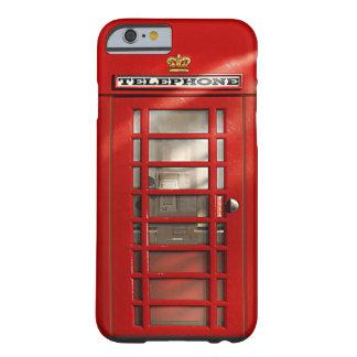 Caisses rouges britanniques vintages de coutume de coque iPhone 6 barely there