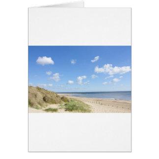 Caister on sea beach and sand dunes card