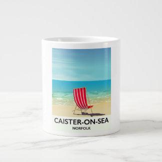 Caister-on-Sea Seaside travel poster Large Coffee Mug