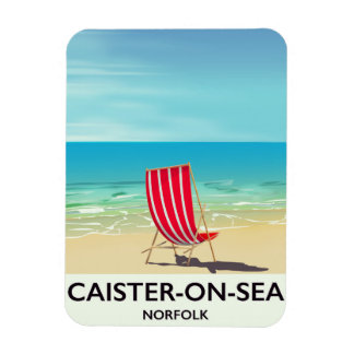 Caister-on-Sea Seaside travel poster Magnet
