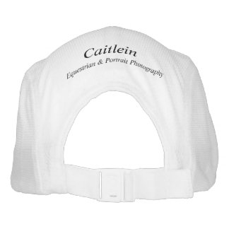 Caitlein - Custom Knit Performance Hat, White Hat