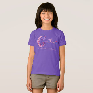 Caitlin girls name & meaning C monogram shirt