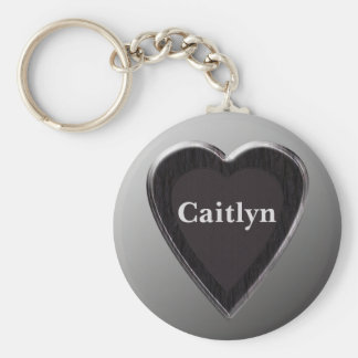 Caitlyn Heart Keychain by 369MyName