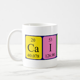 Caitlyn periodic table name mug