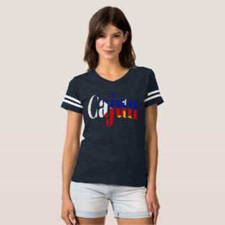 Cajun Acadian Flag Louisiana Football Tee Shirt