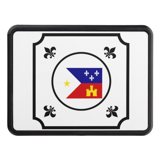 Cajun Acadian Flag Louisiana Hitch Cover