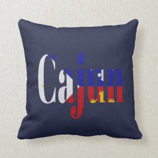 Cajun Acadian Flag Louisiana Throw Pillow