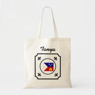 Cajun acadien customisé Flag Fleur De Lis Sac En Toile Budget