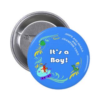 Cajun Baby It s a Boy Pinback Button