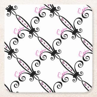 Cajun Baby Square Paper Coaster