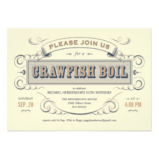 Cajun Crawfish Boil Party Invitations