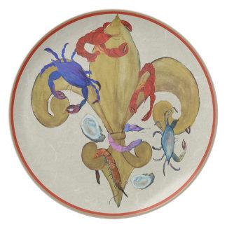 Cajun Fleur de lis art plate
