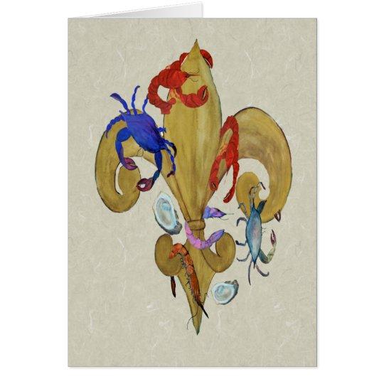 Cajun Fleur de lis Card