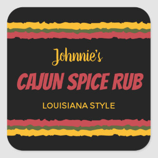 Cajun spice rub seasoning mix square sticker