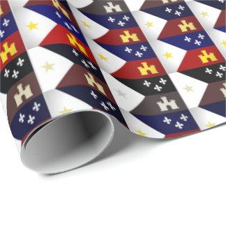 Cajun Theme Acadian Flag Wrapping Paper