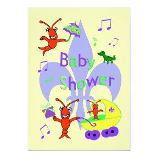 Cajun Themed Fleur de Lys Baby Shower Invitation