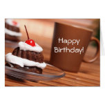 Cake and Coffee Birthday Card
