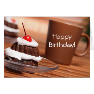 Cake and Coffee Birthday Card