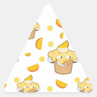 cake and lemon slice triangle sticker
