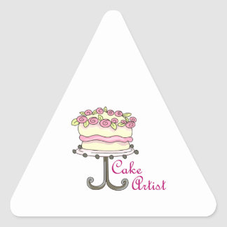 CAKE ARTIST TRIANGLE STICKER
