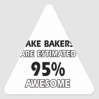 cake bake designs triangle stickers
