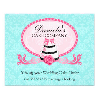 Cake Bakery Discount Voucher Flyers