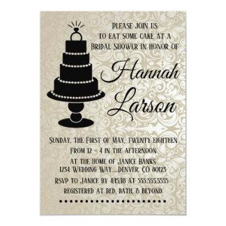 Cake Bling Bridal Shower Invitation
