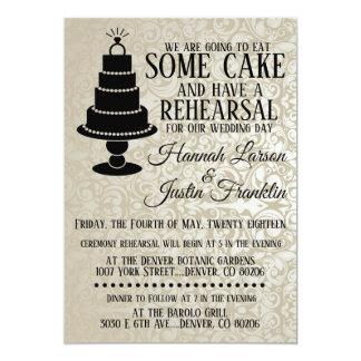 Cake Bling Rehearsal Dinner Invitation