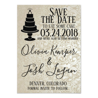 Cake Bling Save the Date Card