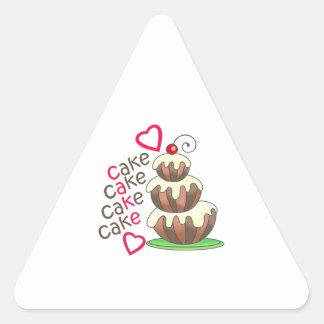 CAKE CAKE CAKE TRIANGLE STICKER