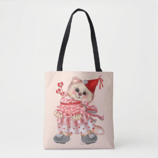 CAKE CAT CARTOON All-Over-Print Tote Bag MEDIUM