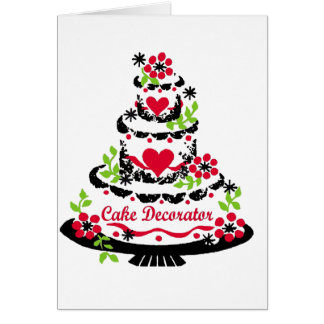 Cake Decorator on Cake Card