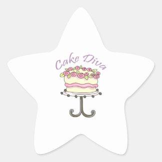 CAKE DIVA STAR STICKER