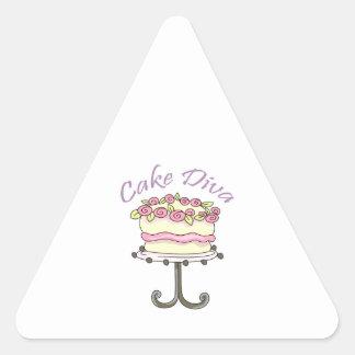 CAKE DIVA TRIANGLE STICKER