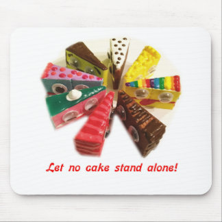 cake face let no cake stand alone logo mouse pad