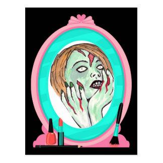 Cake Face Zombie Postcard