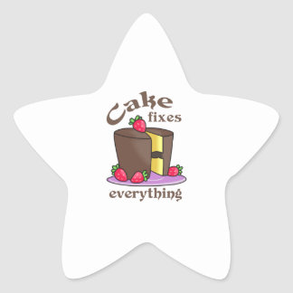 CAKE FIXES EVERYTHING STAR STICKER