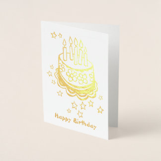 Cake Foil Birthday Card