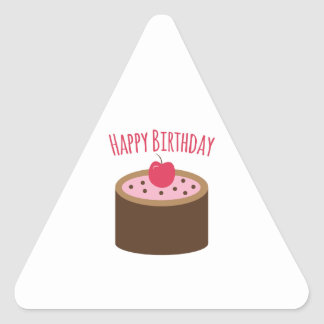 Cake Happy Birthday Triangle Sticker