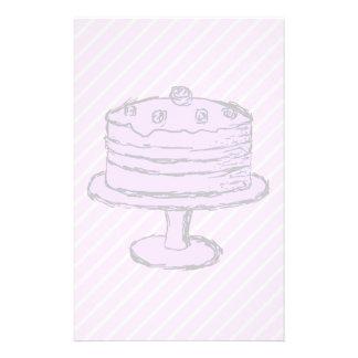 Cake in Light Purple on Pink. Flyer Design
