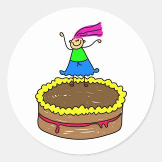 Cake Kid Stickers