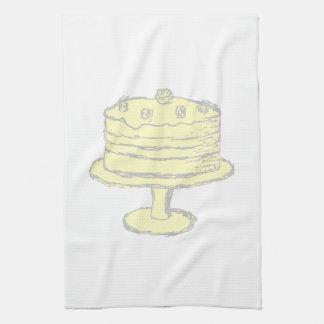 Cake. Kitchen Towel