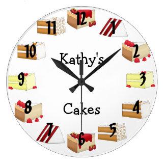 Cake Large Clock